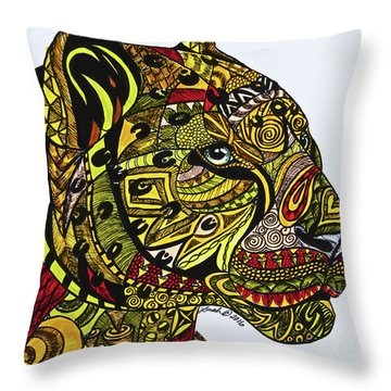 Leopards Throw Pillow