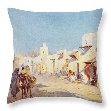 Throw Pillow featuring the photograph Leopold Carl Muller 1887 by Munir Alawi