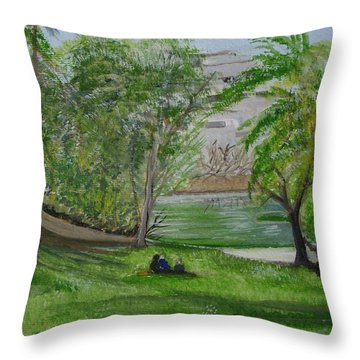 Leopold Park Brussels Throw Pillow by Carole Robins