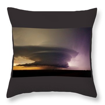 Leoti, Ks Supercell Throw Pillow