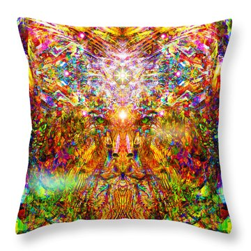 Throw Pillow featuring the digital art Leototem by Jalai Lama