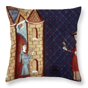 Leper House, C1220-1244 Throw Pillow by Granger