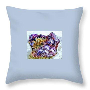 Lepidolite Throw Pillow by Rachel Hannah