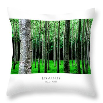 Throw Pillow featuring the digital art Les Arbres by Julian Perry