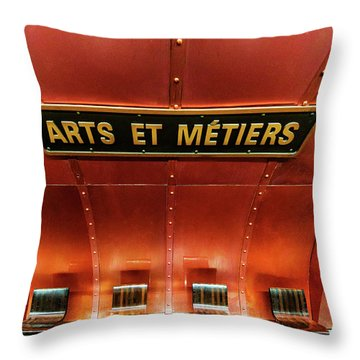 Les Arts Et Metiers, Metro Station, Paris, France. Throw Pillow