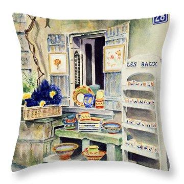 Les Baux Throw Pillow