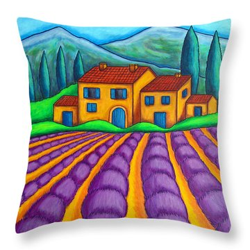Les Couleurs De Provence Throw Pillow by Lisa  Lorenz