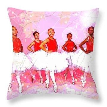 Les Danseurs Noirs Throw Pillow