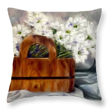 Les Fleurs D'ete Throw Pillow
