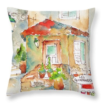 Les Gourmandises St Paul De Vence Throw Pillow
