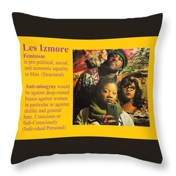 Les Izmore Feminism Throw Pillow