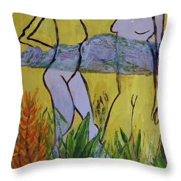 Les Nymphs D'aureille Throw Pillow