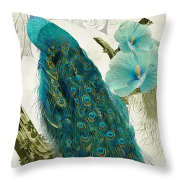 Les Paons Throw Pillow