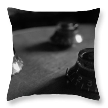 Les Paul Controls Series  Throw Pillow
