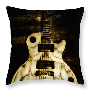 Les Paul Guitar Throw Pillow by Bill Cannon