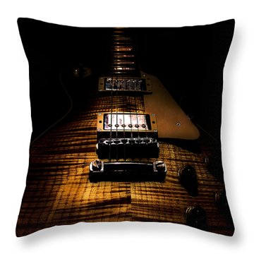 Burst Top Guitar Spotlight Series Throw Pillow