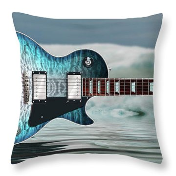 Les Paul Ice Throw Pillow