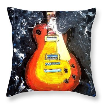 Les Paul Live Throw Pillow