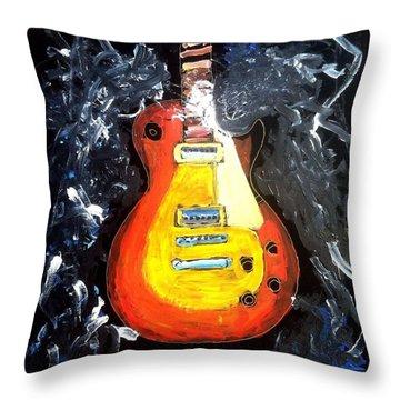 Les Paul Live Throw Pillow