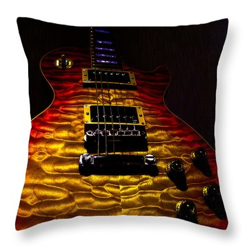 Guitar Custom Quilt Top Spotlight Series Throw Pillow