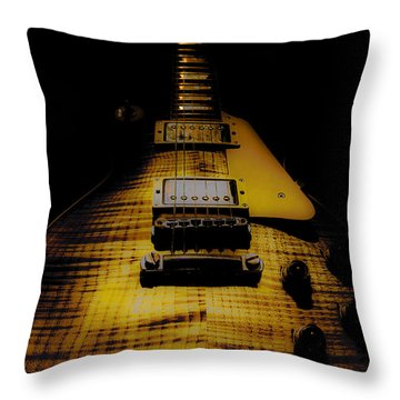 1958 Reissue Guitar Spotlight Series Throw Pillow