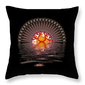 Les Paul Sunrise Shirt Throw Pillow