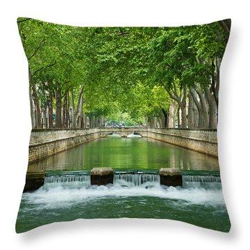 Les Quais De La Fontaine Throw Pillow by Scott Carruthers
