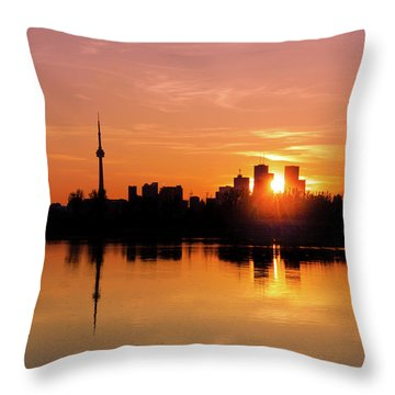 Leslie Street Spit Toronto Canada Sunset Throw Pillow