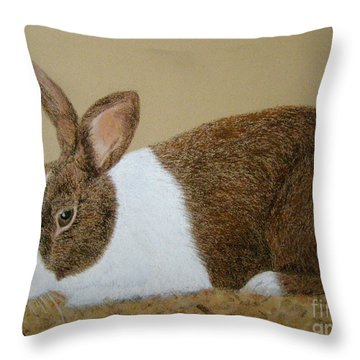 Les's Rabbit Throw Pillow