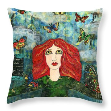 Lessons From A Butterfly Throw Pillow