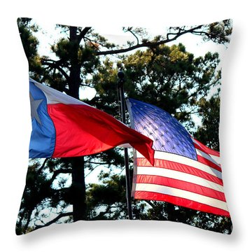 Throw Pillow featuring the photograph Let Freedom Ring by Kathy  White