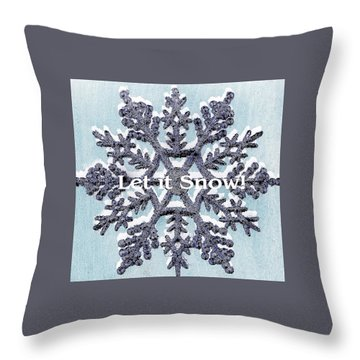 Throw Pillow featuring the photograph Let It Snow 2 by Ellen O'Reilly