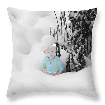 Let It Snow Throw Pillow by Al Bourassa