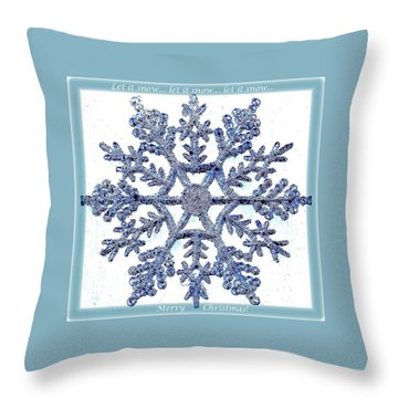 Throw Pillow featuring the photograph Let It Snow 1 by Ellen O'Reilly