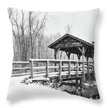 Throw Pillow featuring the photograph Let It Snow by Heather Kenward