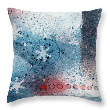 Let It Snow Throw Pillow by Monte Toon