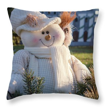 Throw Pillow featuring the photograph Let It Snow by Patrice Zinck