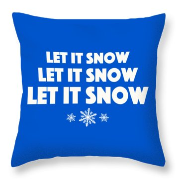 Throw Pillow featuring the digital art Let It Snow With Snowflakes by Heidi Hermes
