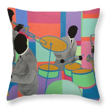 Let The Band Play Throw Pillow