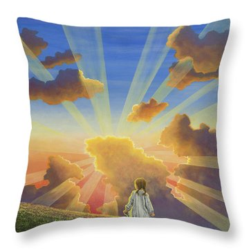 Let The Day Begin Throw Pillow
