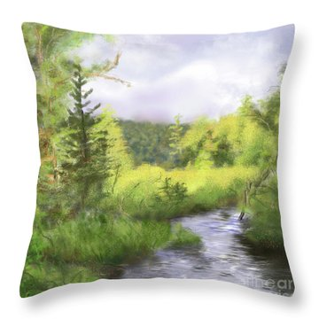 Let The Light Shine In. Throw Pillow
