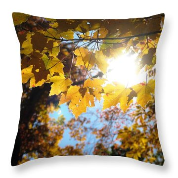 Let The Sun Shine In Throw Pillow by Angela Davies