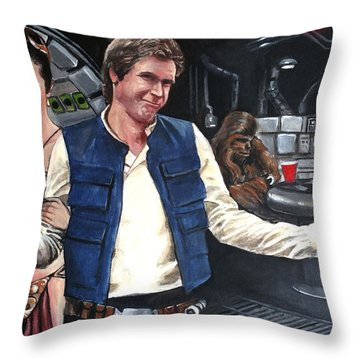 Let The Wookie Win Throw Pillow