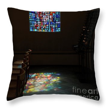 Throw Pillow featuring the photograph Let There Be Coloured Light... by Nina Stavlund