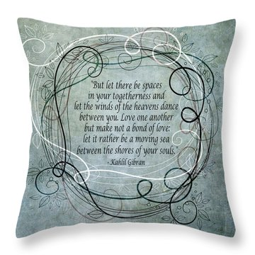 Let There Be Spaces Throw Pillow