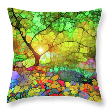 Let This Light Bring You Home Throw Pillow by Tara Turner