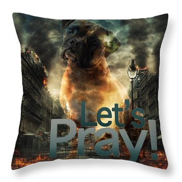 Let Us Pray-2 Throw Pillow