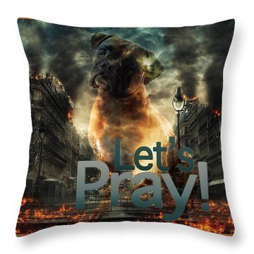 Let Us Pray-2 Throw Pillow