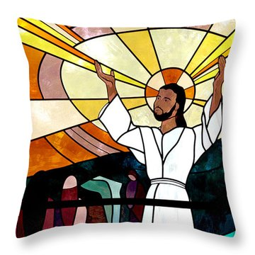 Let Your Light Shine Throw Pillow by Toni Hopper
