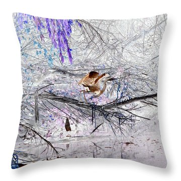 Let Your Mind Fly Away Throw Pillow